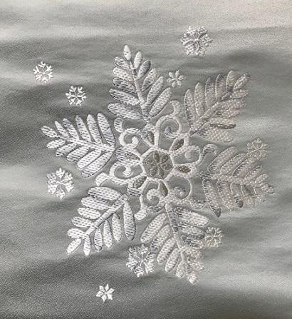 西陣まいづる新作雪の結晶九寸・クリスマスコーディネイト_f0181251_18423054.jpg