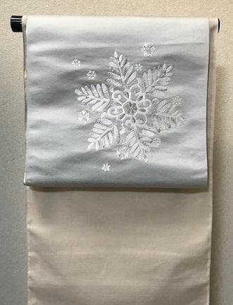 西陣まいづる新作雪の結晶九寸・クリスマスコーディネイト_f0181251_1843785.jpg