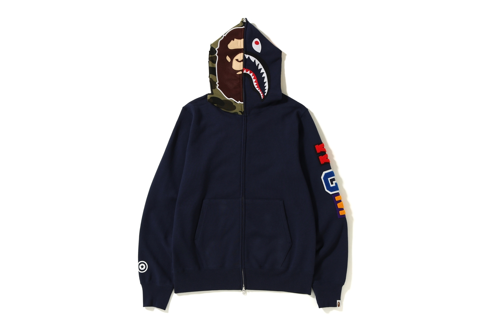 2ND APE SHARK FULL ZIP HOODIE_a0174495_17200861.jpg