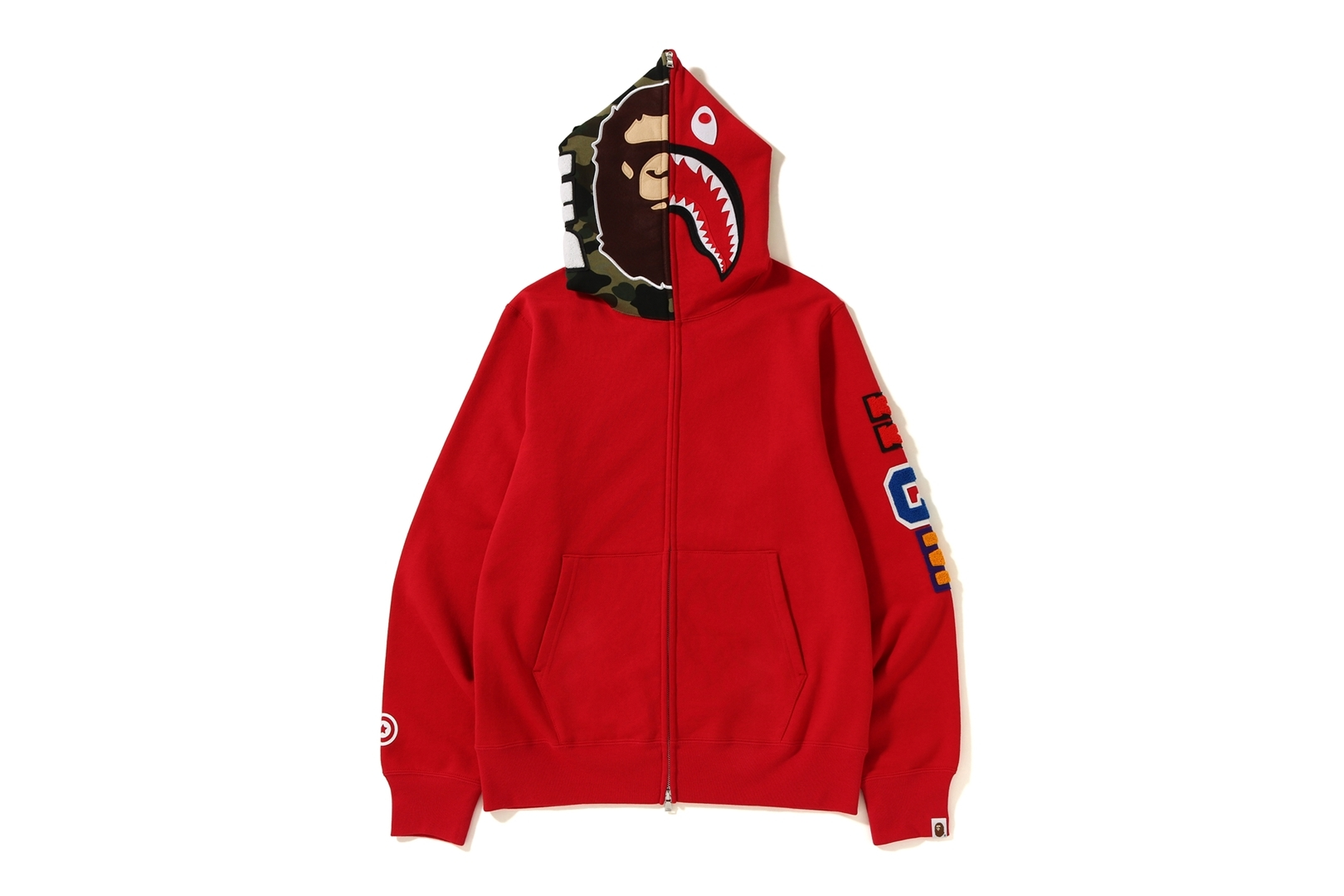 2ND APE SHARK FULL ZIP HOODIE_a0174495_17201640.jpg