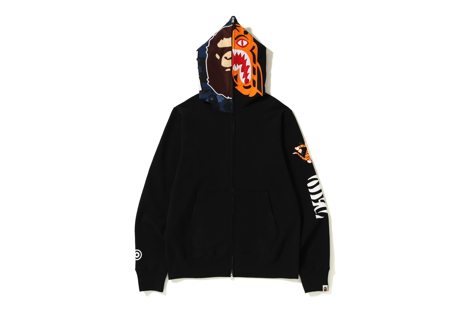 2ND APE TIGER FULL ZIP HOODIE_a0174495_17221593.jpg