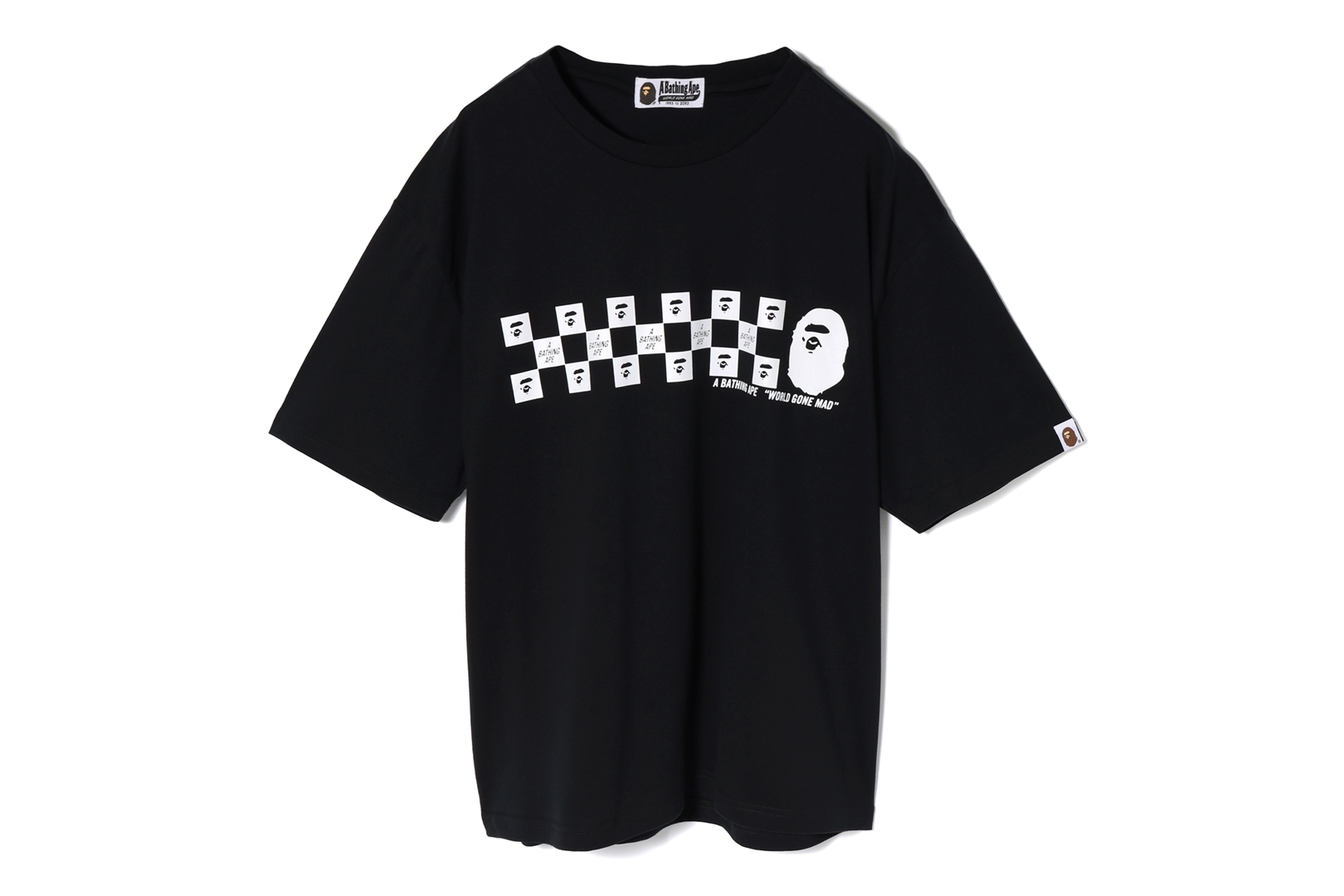 BAPE CHECKER OVERSIZED TEE_a0174495_17293508.jpg