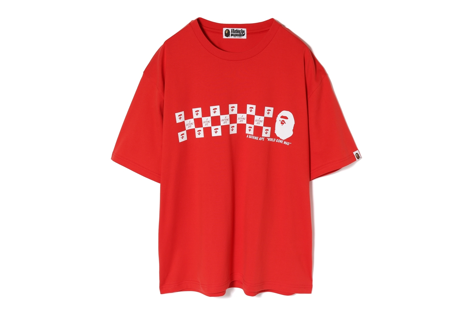 BAPE CHECKER OVERSIZED TEE_a0174495_17294564.jpg