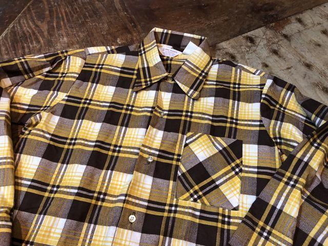 10月27日(土)入荷!デッドストック all cotton  70s ERIC DAMON WORK プリントネルシャツ!!_c0144020_14112803.jpg