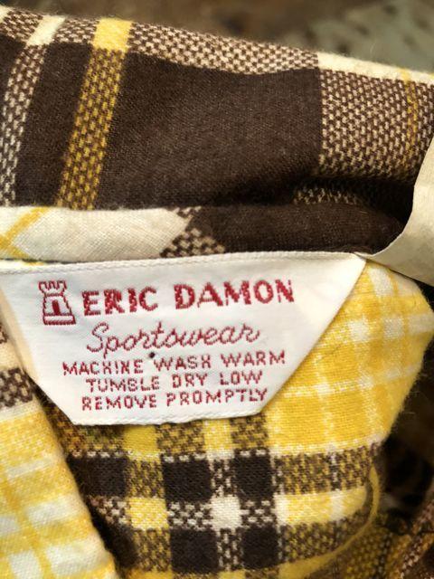 10月27日(土)入荷!デッドストック all cotton  70s ERIC DAMON WORK プリントネルシャツ!!_c0144020_14113157.jpg