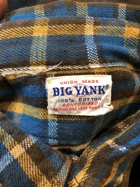 10月27日(土)入荷!60s BIG YANK ヘビーネルシャツ!_c0144020_15015526.jpg