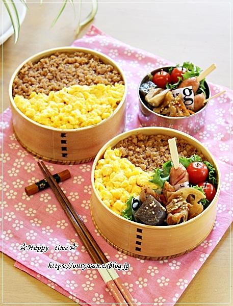 そぼろ弁当とIKEAで50円ソフト♪_f0348032_17241837.jpg