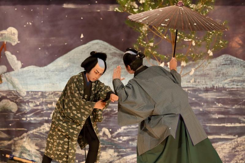 村国座奉納子供歌舞伎 「南部坂雪の別れ」後篇_c0196076_20345711.jpg