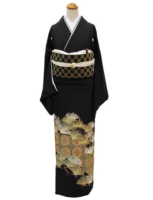 上質な黒留袖をモダンにかっこよく☆_b0098077_13433788.jpg