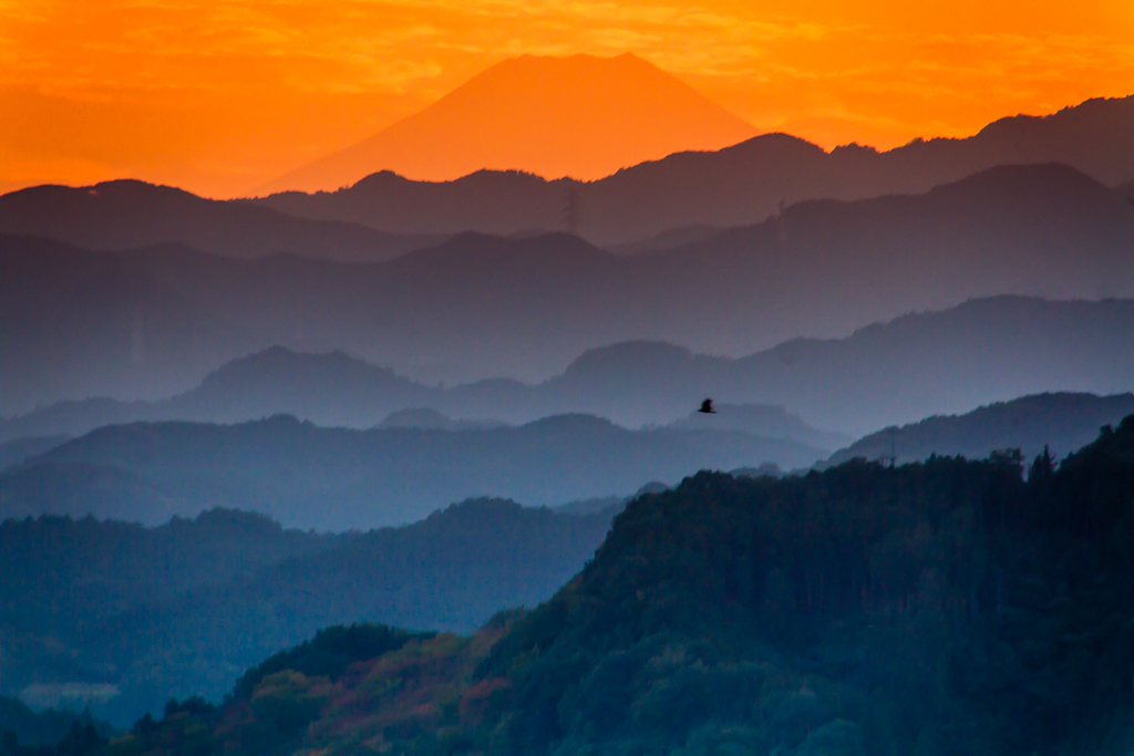 夕暮れの富士山_b0010915_19593957.jpg