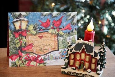 小さなクリスマスハウスと新作のクリスマスカード♪_f0161543_151646.jpg
