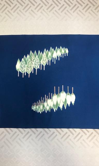 千切屋さんで仕入れた、雪木立にキツネの素敵な染め帯。_f0181251_1792088.jpg