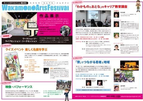 ティーンズクリエイション展2018 Wakamono Arts Festival 開催!_f0197045_18531652.jpg