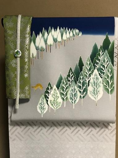 商品紹介・千切屋仕入・雪木立にキツネの帯をコーディネイト。_f0181251_1364890.jpg