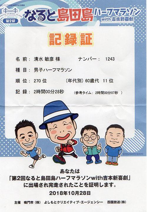 島田島ハーフマラソンに参加しました_e0201281_19515287.jpg