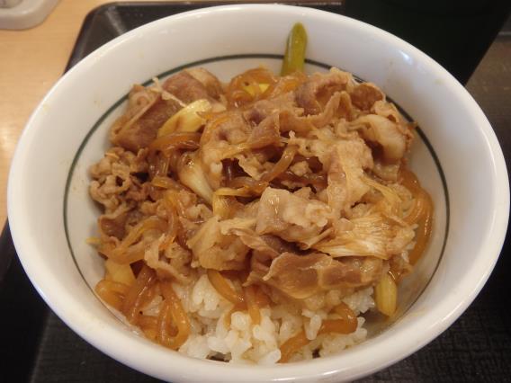 なか卯の和風牛丼ミニとはいから小うどん          神戸元町店_c0118393_08064598.jpg
