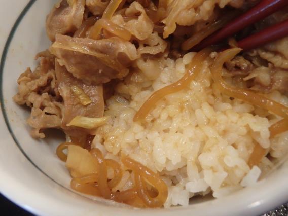 なか卯の和風牛丼ミニとはいから小うどん          神戸元町店_c0118393_08193213.jpg