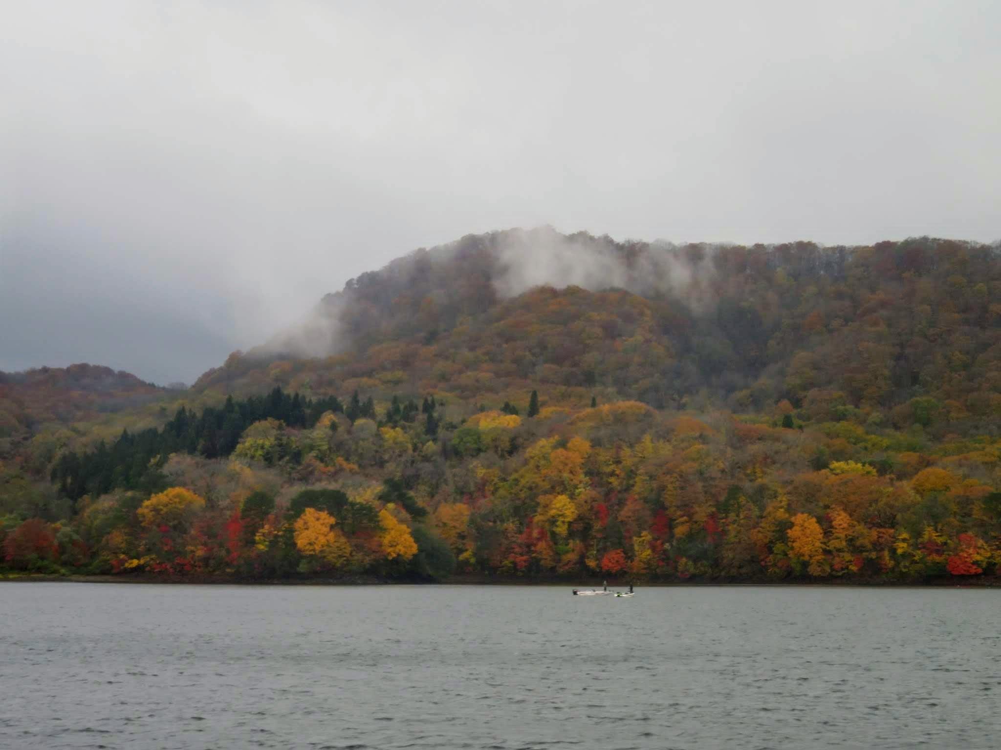 【裏磐梯】雨上がり、超曇天の桧原湖遊覧船_a0057402_21552471.jpg