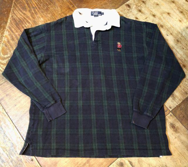 10月29日(月)入荷! 90s カナダ製 ポロベアー ラルフローレン ラガーシャツ!_c0144020_14185465.jpg