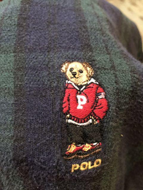 10月29日(月)入荷! 90s カナダ製 ポロベアー ラルフローレン ラガーシャツ!_c0144020_14185967.jpg