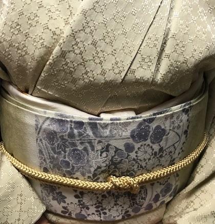 ご来店のお客様・飾り紋の花織の無地にピッタリの帯。_f0181251_1842647.jpg