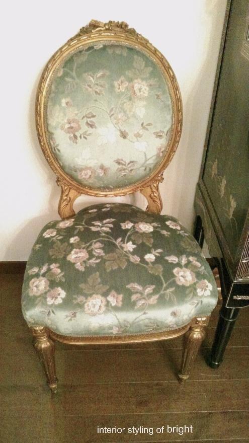 椅子 張替・修理 その2 サンゲツ『UP』 ウィリアムモリス正規販売店のブライト_c0157866_19032764.jpg