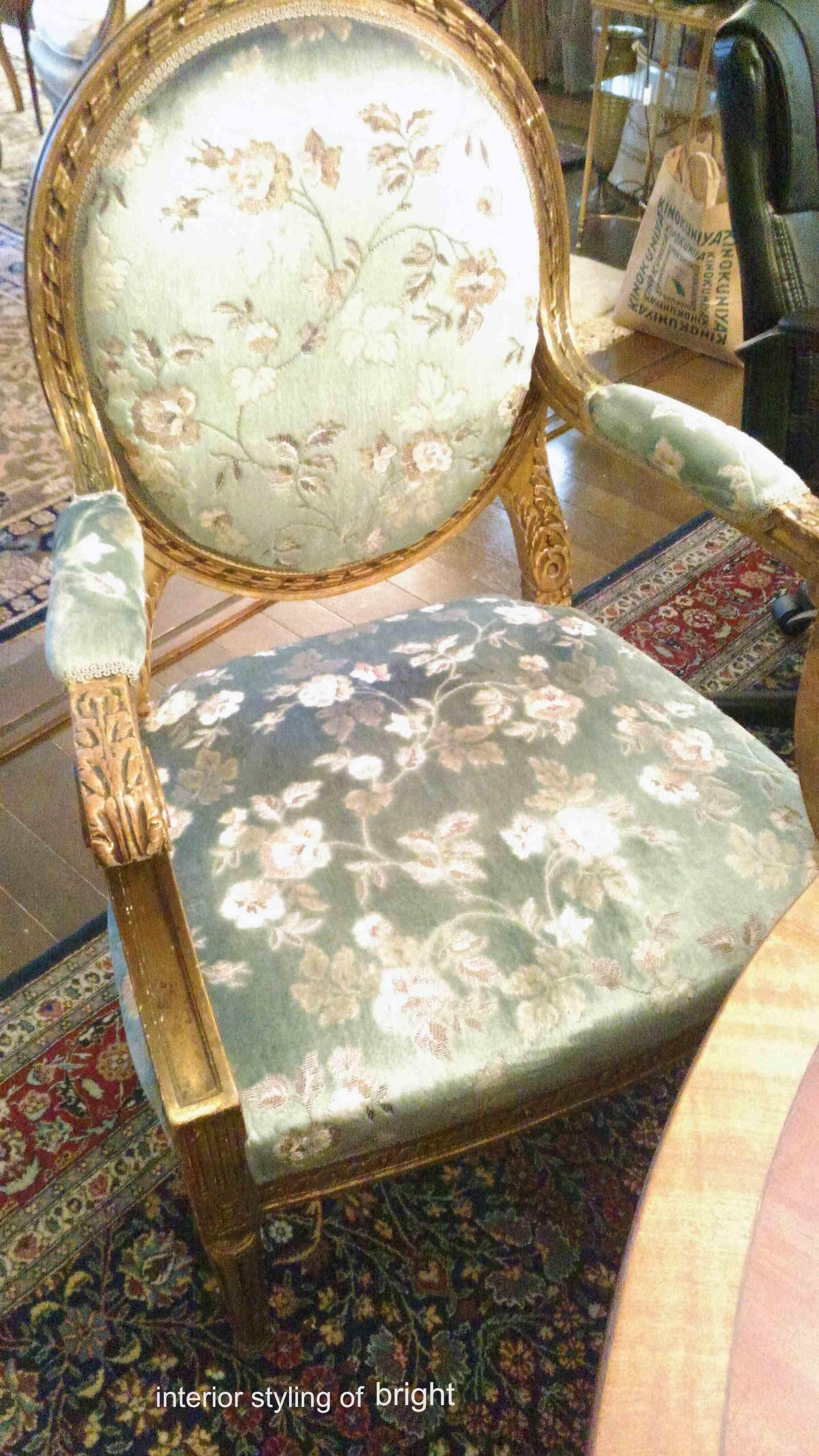 椅子 張替・修理 その2 サンゲツ『UP』 ウィリアムモリス正規販売店のブライト_c0157866_19035662.jpg