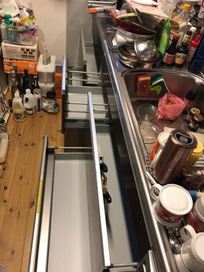 システムキッチンのオーガナイズ_f0028675_21042697.jpg