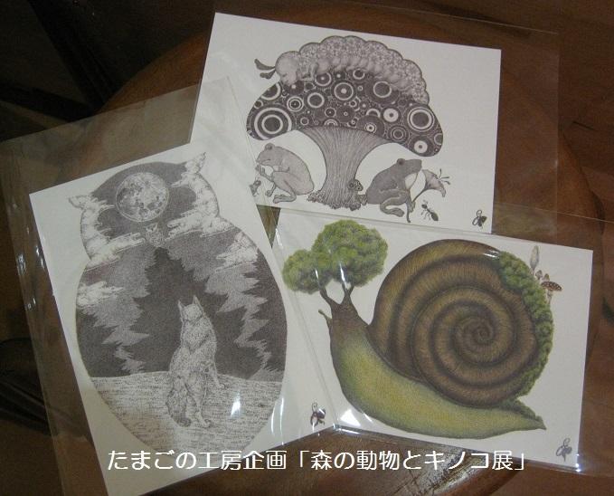 たまごの工房企画「森の動物とキノコ展」 その4_e0134502_23534190.jpg