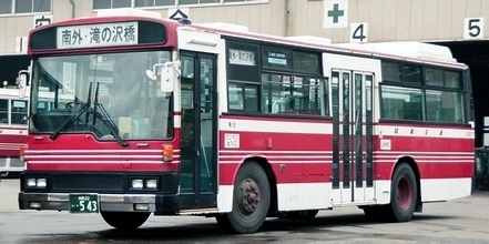 羽後交通 三菱P-MP118K +呉羽_e0030537_23012096.jpg