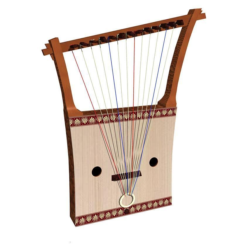 古代楽器 Sumerian Lyre(工房のデザイン)_e0064847_14435578.jpg
