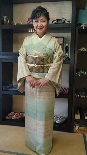 ご来店のお客様・野田淳子さん、志村ふくみ+洛風林の帯_f0181251_15391186.jpg