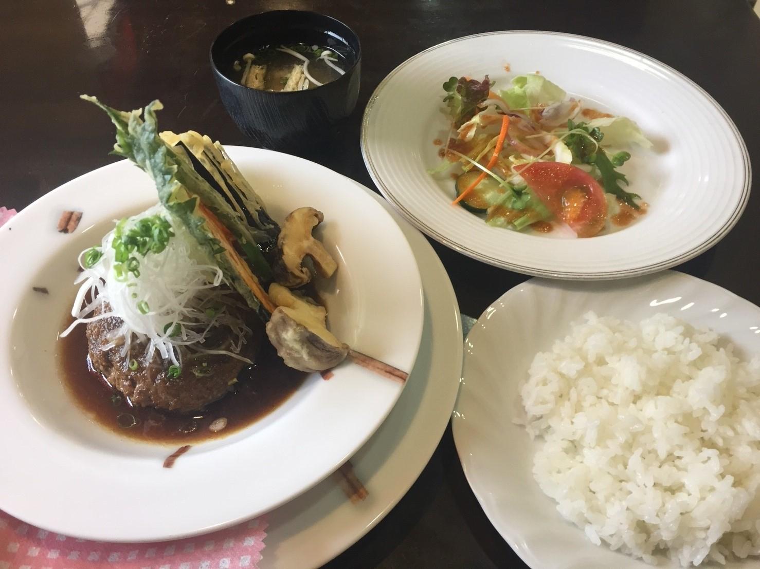 cafe & restaurant Andrews  日替わりランチ 和風ハンバーグ_e0115904_10114649.jpg
