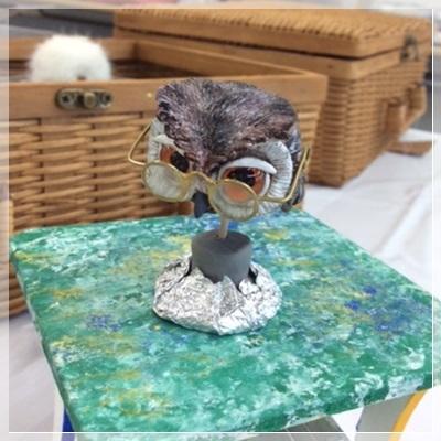 『 どうぶつ人形アート&ミニチュア雑貨講座 』生徒さんの作品です。_c0357605_12200143.jpg