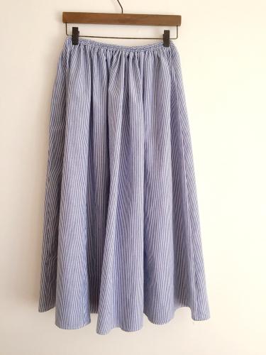 ブルーのヒッコリーの紗依/ブラウスと、Casshy/スカート (セミオーダー)_b0199696_18394997.jpg