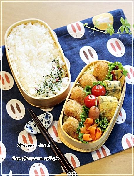 一口とんかつ弁当と小豆シフォン♪_f0348032_18181442.jpg