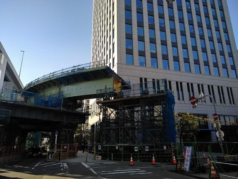 阪神高速 阿波座西行付加車線 大規模改修工事を計画中か?_c0340867_23411521.jpg