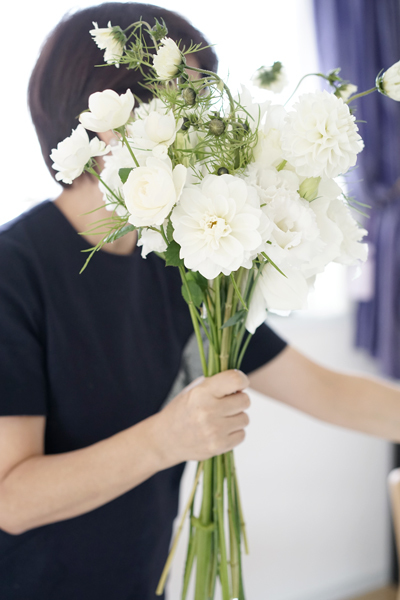 10月のレッスン white bouquet_f0127281_12075887.jpg