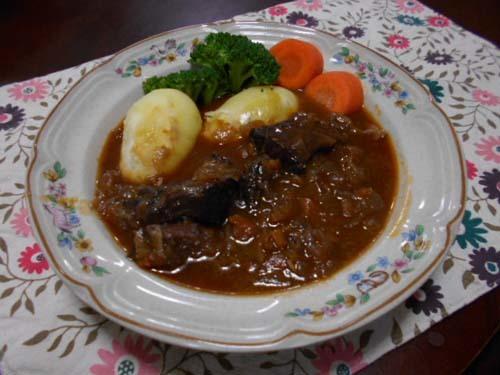 牛肉の赤ワイン煮_f0019498_07411889.jpg