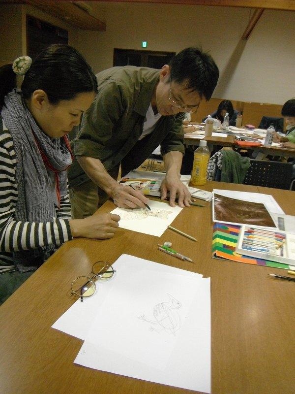 岡田宗徳さんによる「やんばるの動物 お絵かき教室」_f0121321_13042570.jpg