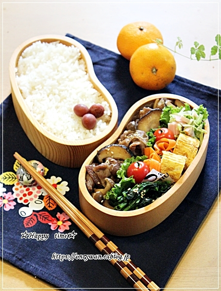豚肉キノコの生姜焼き弁当と今週の作りおき♪_f0348032_17241605.jpg