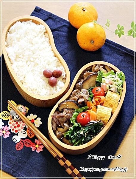 豚肉キノコの生姜焼き弁当と今週の作りおき♪_f0348032_17242507.jpg