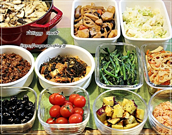 豚肉キノコの生姜焼き弁当と今週の作りおき♪_f0348032_17244231.jpg