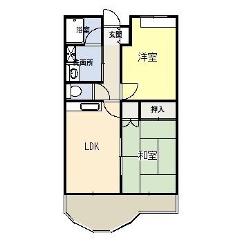 堤 2DK アパート_b0170834_17101269.jpg