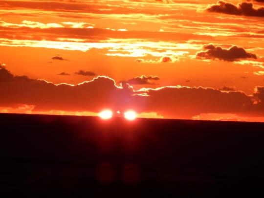 '18,11,4(日)真っ赤な太陽と鯛のカルパッチョ!_f0060461_12025401.jpg