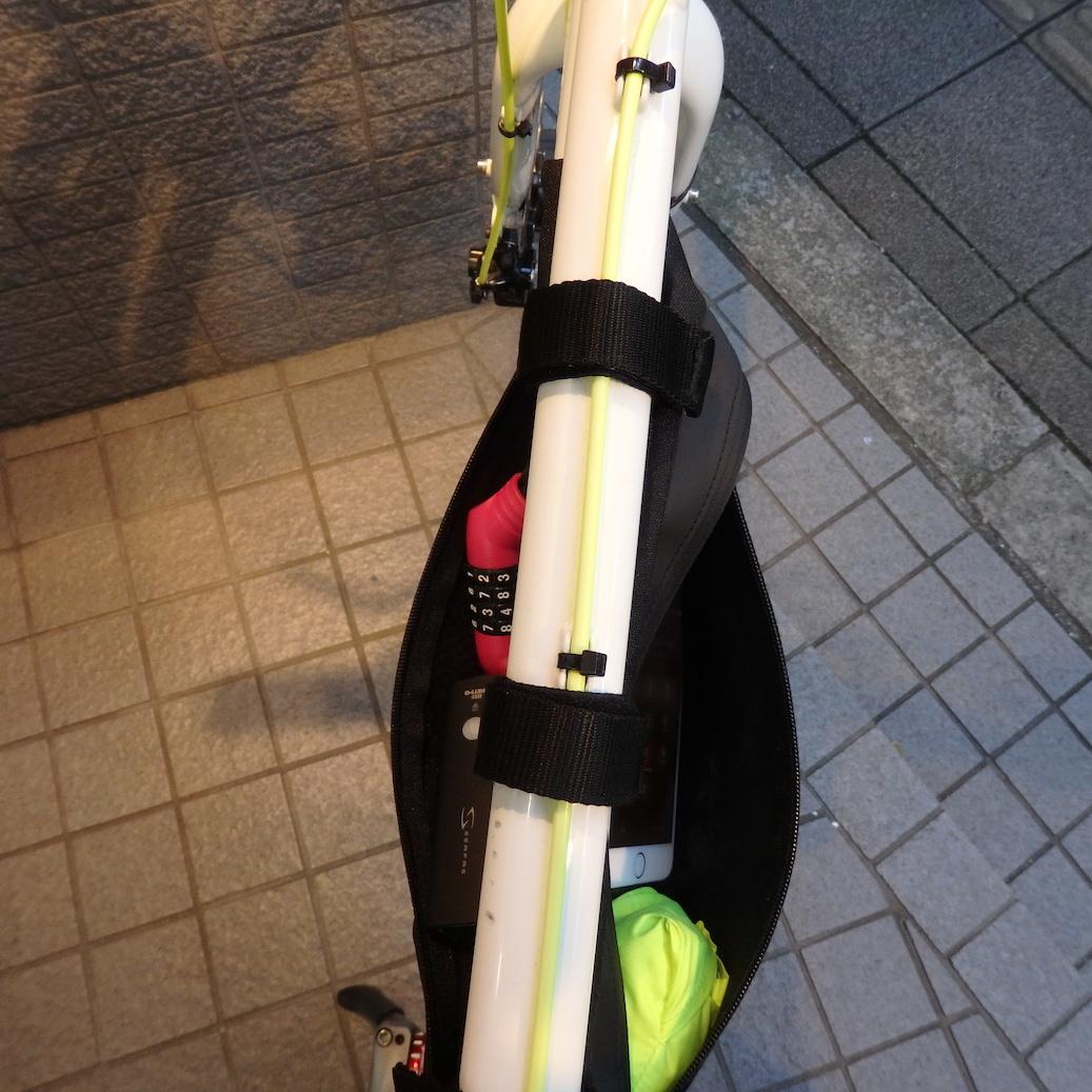 フレームバッグ、使ってみた & 11月の臨時休業のご案内_c0316555_18042298.jpg