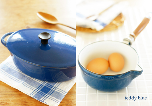 vintage blue cast-iron pans ヴィンテージキャストアイアン_e0253364_08200906.jpg