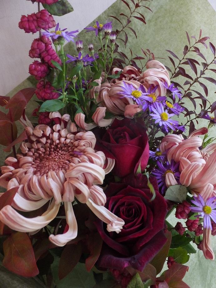 オークリーフ(菊クラシックココアの花束)_f0049672_14101809.jpg