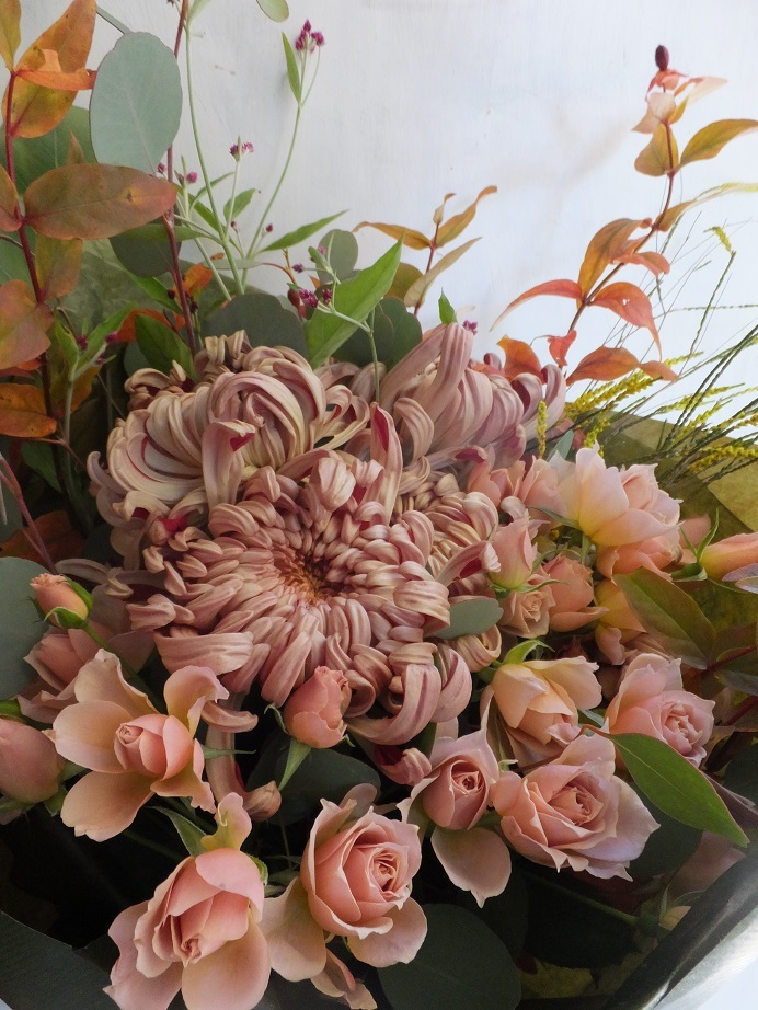 オークリーフ(菊クラシックココアの花束)_f0049672_14102291.jpg