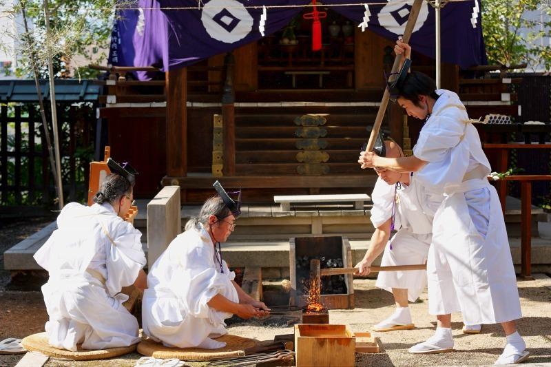 生國魂神社 鞴祭・刀剣鍛錬神事_c0196076_16094205.jpg